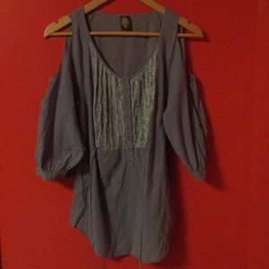 Free People Small Shoulderless Cotton Tunic w/ Tie